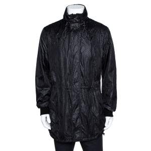 Emporio Armani Black Perforated Emile Line Jacket XL
