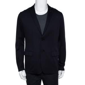 Emporio Armani Navy Blue Knit blazer XL