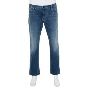Emporio Armani Blue Denim Straight Leg Jeans XXL