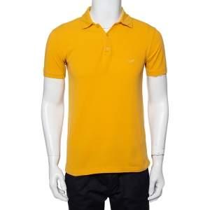 Emporio Armani Mustard Yellow Cotton Polo T-Shirt M