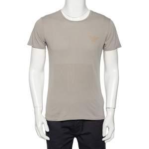 Emporio Armani Grey Logo Generationy Printed Cotton Crewneck T-Shirt M