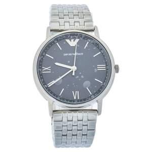 Emporio Armani Grey Stainless Steel AR11068 Men's Wristwatch 41 mm