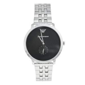 Emporio Armani Black Stainless Steel Modern Slim AR11161 Men's Wristwatch 42 mm