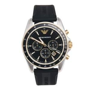 Emporio Armani Black Stainless Steel AR80003 Men's Wristwatch 44 mm