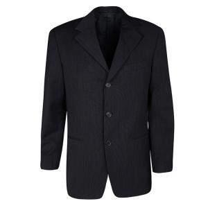 Ermenegildo Zegna Soft Navy Blue Wool Textured Blazer M