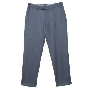 Ermenegildo Zegna Grey Wool Slim Fit Trousers M