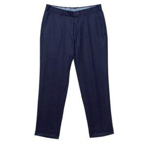 Ermenegildo Zegna Navy Blue Wool Slim Fit Trousers M