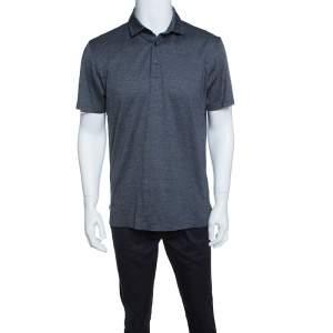 Ermenegildo Zegna Multicolor Contrast Trim Short Sleeve Polo T-Shirt M