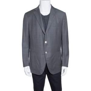 Ermenegildo Zegna Grey Wool Tailored Street Blazer XL
