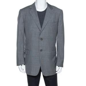 Ermenegildo Zegna Grey Wool Two Buttoned Blazer XXL