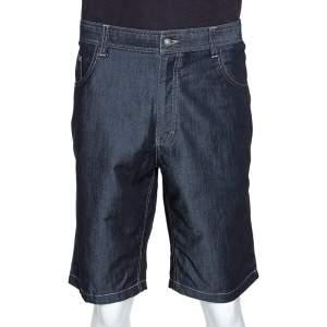 Ermenegildo Zegna Navy Blue Denim Shorts XXXL