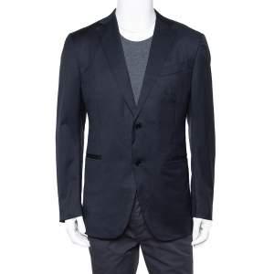 Ermenegildo Zegna Navy Blue Wool Button Front Regular Fit Blazer XXL