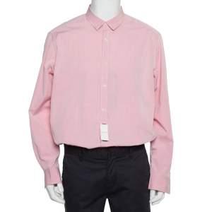 Ermenegildo Zegna Pink Cotton Button Front Shirt XXL