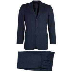 Ermenegildo Zegna Men's Grey Striped Suit M