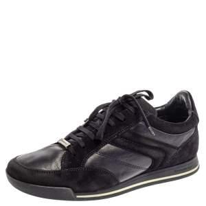 حذاء رياضى ايرمنيجيلدو زينيا منخفض من أعلى  جلد سويدى أزرق مقاس 41.5
