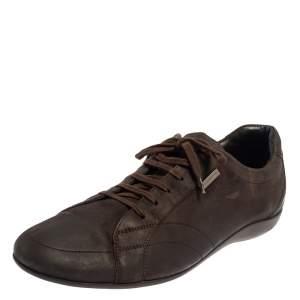 حذاء رياضي ايرمنيجيلدو زينيا منخفض من أعلى كانفاس بني مقاس 43.5