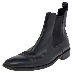 Ermenegildo Zegna Black Leather Boots Size 42