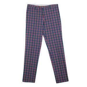 Etro Multicolor Plaid Checked Cotton Trousers L