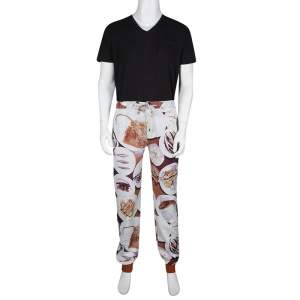 Etro Multicolor Fish Print Drawstring Detail Jogger Pants L