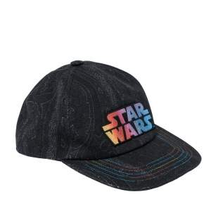 Etro x Star Wars Black Paisley Print Cotton Baseball Cap S/M