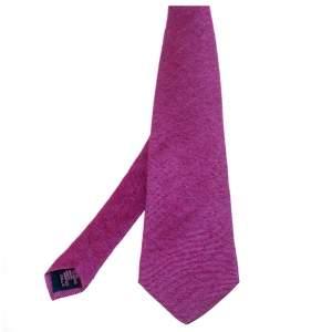 Etro Purple Striped Cashmere Silk Tie
