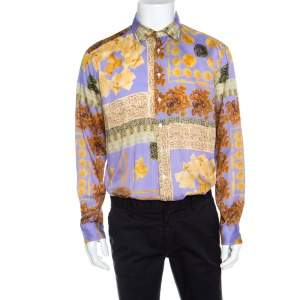 Etro Multicolor Pasta Print Long Sleeve Button Front Cotton Shirt XL