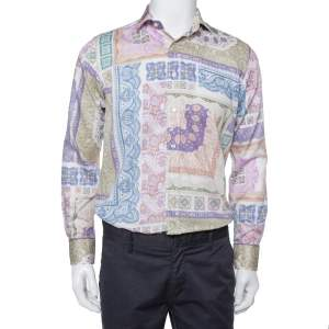 Etro Multicolor Paisley Printed Cotton Button Front Shirt L