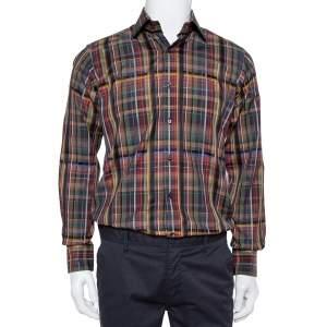Etro Multicolor Cotton Button Front Shirt S