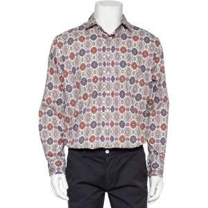 قميص ايترو أزرار أمامية قطن مطبوع متعدد الألوان مقاس كبير جداً (اكس لارج)