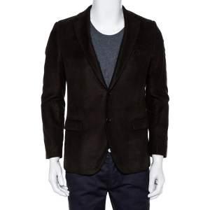 Etro Forest Green Mohair Wool Button Front Blazer M
