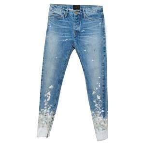 Fear of God Blue Denim Zip Detail Painters Selvedge Jeans S