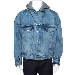 Fear Of God Fifth Collection Indigo Denim Hooded Trucker Jacket M