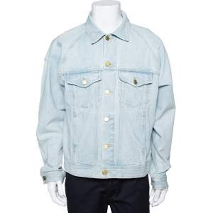 Fear Of God Fifth Collection Light Blue Denim Trucker Jacket M