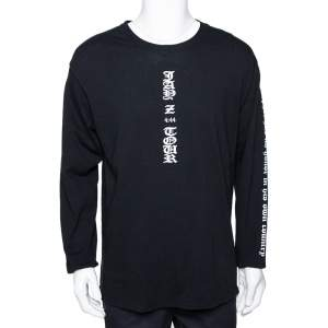 Fear Of God X Jay-Z Black Graphic Print Long Sleeve Merch T-Shirt L