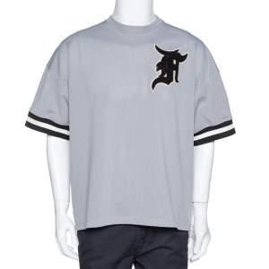 Fear of God Grey Mesh Baseball Jersey Oversized T-Shirt S
