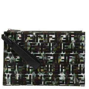 Fendi Camouflage Leather Ff Pouch