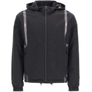 Fendi Grey Logo Tape Hooded Jacket Size EU 48