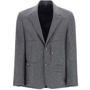 Fendi Grey Wool Blazer Size EU 48