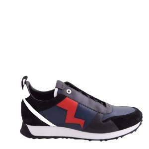 Fendi Black/Multicolor Lightening Bolt Low-Top Sneakers Size EU 41 (UK 7)