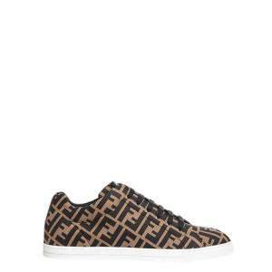 Fendi Brown Tech FF Lace Up Sneakers Size UK 9/ EU 42