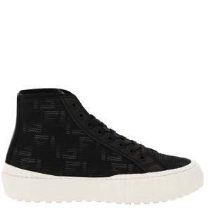 Fendi Black FF Flash lace-up High Top Sneakers Size UK 9 EU 43
