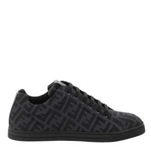 Fendi Black/Grey FF Motif Sneakers Size UK 9