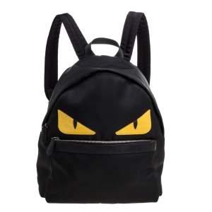 Fendi Black Nylon Monster Eyes Backpack