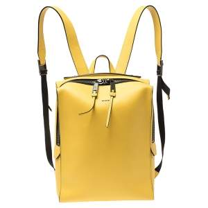 Fendi Mustard Leather Square Backpack