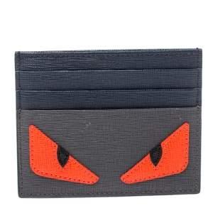 Fendi Multicolor Leather Monster Eye Card Holder