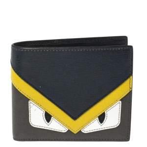 Fendi Multicolor Leather Monster Eye Bifold Wallet