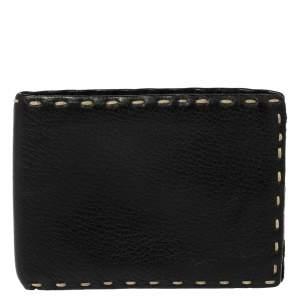 Fendi Black Selleria Leather Bifold Wallet
