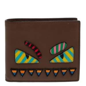 Fendi Multicolor Leather Monster Eyes Bifold Wallet