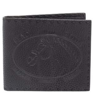 Fendi Black Embossed Leather Selleria Bifold Wallet
