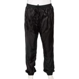 Fendi Black Synthetic Monogram & Pequin Motif Track Pants XXL